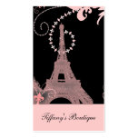 girly eleganter rosa Eiffel-Turm Paris Vintag Visitenkarten