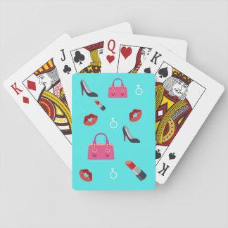 Girly Emoji Spielkarten