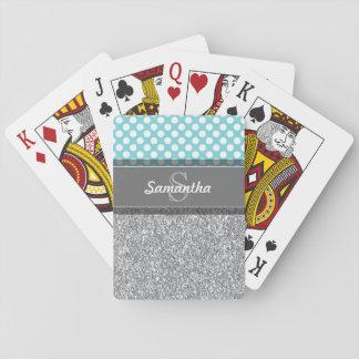 Girly Glitzer-Druck-Muster mit kundenspezifischen Spielkarten