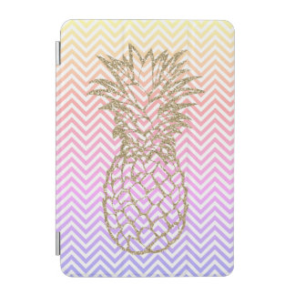 Girly Goldananas-Rosa Zickzack iPad intelligente iPad Mini Cover