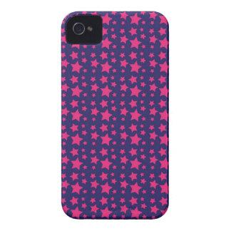 Girly heißes Rosa und lila Sternchen-Vereinbarung iPhone 4 Case-Mate Hülle