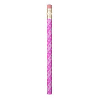 Girly hellrosa u. dunkles rosa Herz Stripes Muster Bleistift