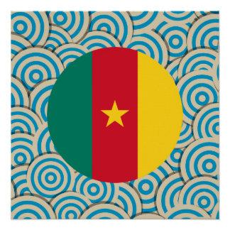 Girly kamerunisches Flaggen-Geschenk Poster