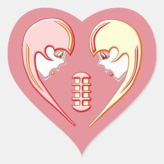 Girly Karaoke-Liebe-Herz Herz-Aufkleber