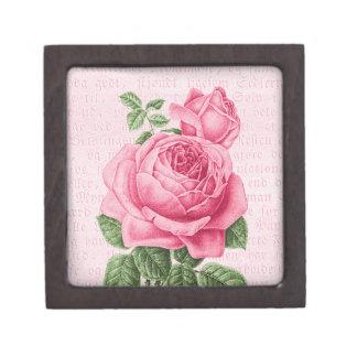 Girly Kästchen der rosa Vintagen Rose 2 oder 3 Schmuckkiste