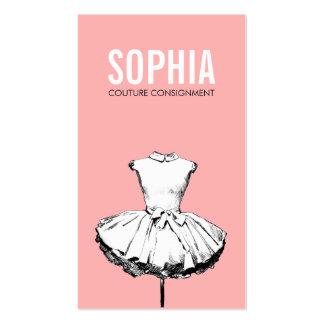 Girly Kleiderrosa-Mode-Butike-mutige Typografie Visitenkarten