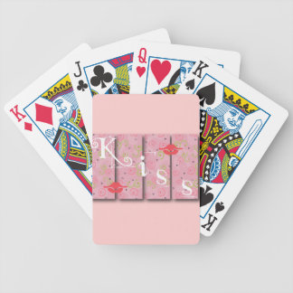 GIRLY KUSS BLOCKIERT LIPPENkuss-ROSA-GRAFIK-LIEBE Bicycle Spielkarten