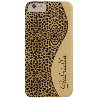 Girly Leopard-Muster-verziertes Monogramm Barely There iPhone 6 Plus Hülle