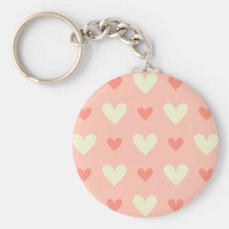 Girly Liebe-Herzen - elegant und Chic-Muster Schlüsselanhänger