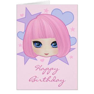 Girly Mädchen-Marianne-Geburtstags-Karte Karte