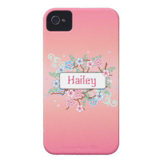 Girly mit Blumenpersonalisiertes iPhone 4 Cover