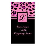 girly Mode des Pinkleopard-Druckes Visitenkarten