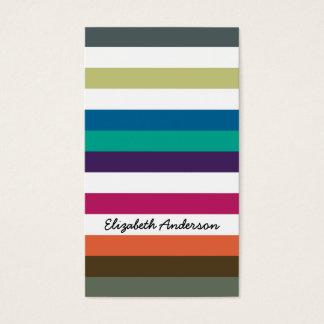 Girly mutiger Regenbogen-große horizontale Visitenkarte