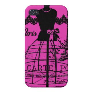 Girly Paris im Pink iPhone 4 Etui