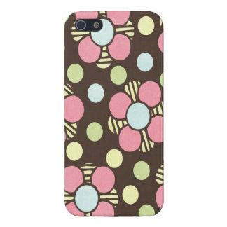 Girly Pastellblumenkunst iPhone 5 Schutzhüllen