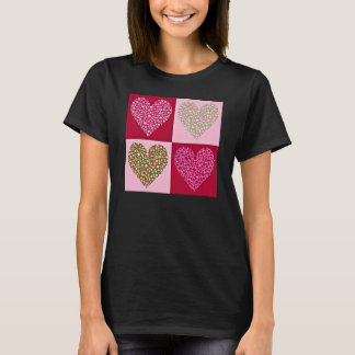 Girly Pastellherzen T-Shirt