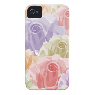 Girly PastellRosen Case-Mate iPhone 4 Hülle