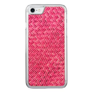 Girly pinkfarbenes Korbgeflecht-geometrisches Carved iPhone 8/7 Hülle