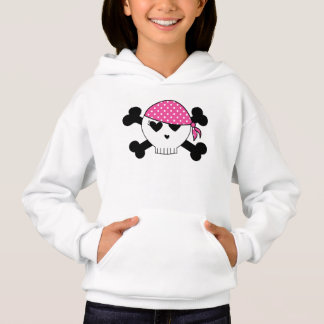 Girly Piraten-Schädel Hoodie