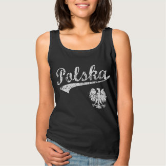Girly Polska Baseball-Art Tank Top