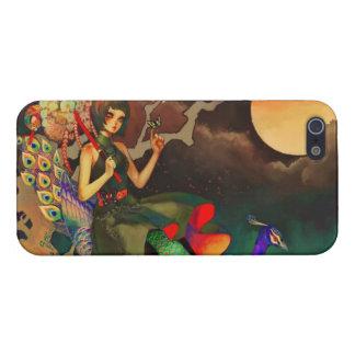 Girly Prinzessin-und Pfau-Fantasie iPhone 5 Etuis