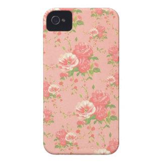 Girly rosa Blumen iPhone 4 Case-Mate Hüllen