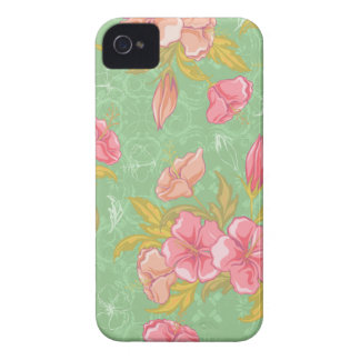 Girly rosa BlumeniPhone 4s Fall iPhone 4 Case-Mate Hülle