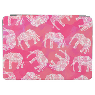 girly rosa buntes Stammes- Blumenelefantmuster iPad Air Cover