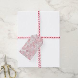 Girly rosa Confettientwurf Geschenkanhänger
