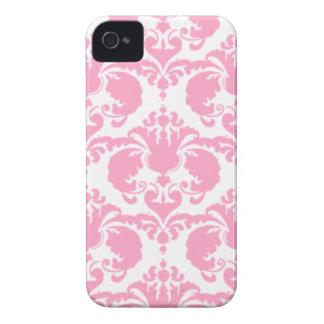 Girly rosa Damast Case-Mate iPhone 4 Hüllen