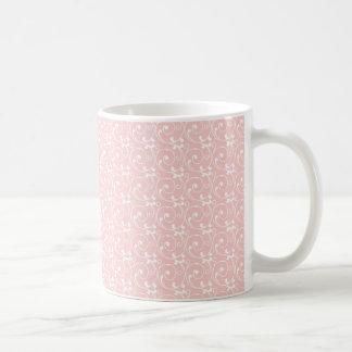 Girly Rosa erröten empfindliches Vintages Muster Kaffeetasse