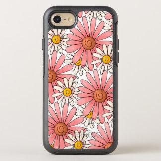 Girly rosa Gänseblümchen und weiße Gänseblümchen OtterBox Symmetry iPhone 8/7 Hülle