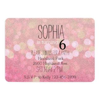 Girly rosa Glittery Glitzern 12,7 X 17,8 Cm Einladungskarte