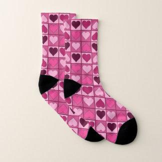 Girly rosa Herz-Muster Socken