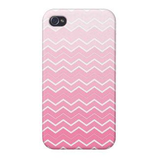 Girly rosa Kaugummi Ombre Zickzack Muster iPhone 4/4S Hüllen