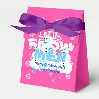 Girly rosa lustiges gelassen ihm schneien geschenkschachteln