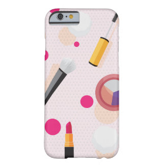 Girly Rosa punktiert Make-upSet iPhone 6/6s Fall Barely There iPhone 6 Hülle