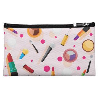 Girly Rosa punktiert mittlere kosmetische Tasche