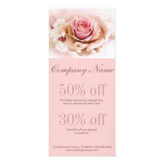 girly rosa Rosenhochzeits-Floristengeschäft Individuelle Werbekarte