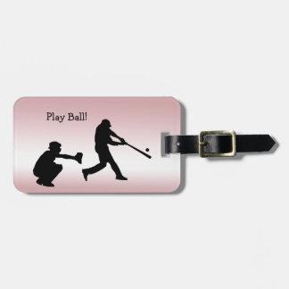 Girly rosa Spiel-Ball-Baseball trägt Kofferanhänger