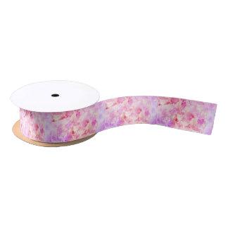 Girly rosa und lila gemalter funkelnd Watercolor Satinband