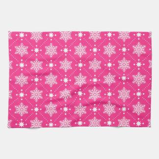 Girly rosa und weißes handtuch
