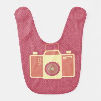 Girly rosa Vintage Kamera Lätzchen