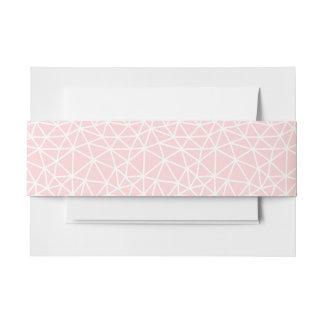 Girly rosa weißes geometrisches Streifen-Muster Einladungsbanderole