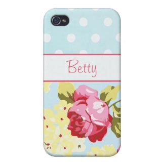 Girly Rosen und Polka-Punkte iPhone 4/4S Cover