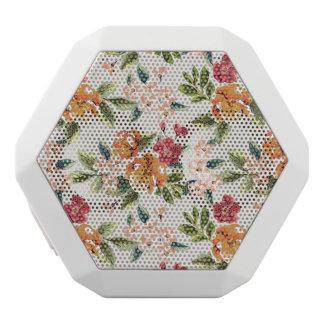 Girly schicke Blumenmuster-Aquarell-Illustration Weiße Bluetooth Lautsprecher