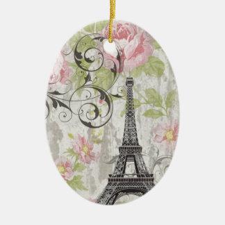 girly schicker rosa französischer Land-mit Keramik Ornament