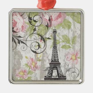 girly schicker rosa französischer Land-mit Silbernes Ornament
