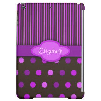 Girly Schokoladen-lila rosa Polka-Punkte und