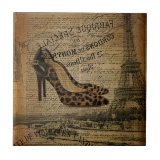 girly Schuhe Paris-Eiffelturm Fashionista Fliese